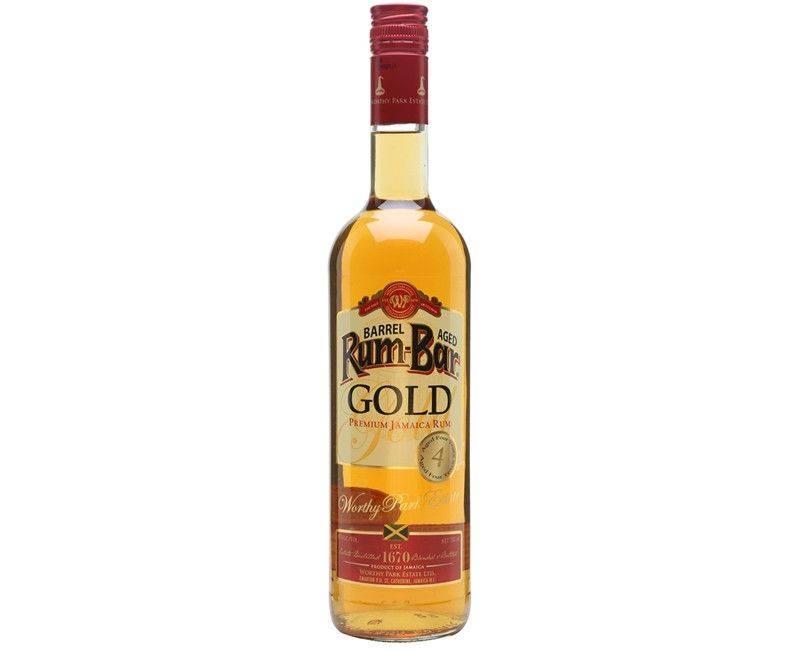 Rum-Bar Gold Premium Jamaica Rum Aged Four Years 750ml