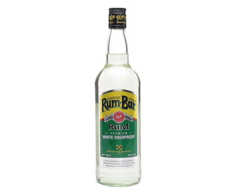 Rum-Bar Premium White Overproof Rum - Worthy Park Estate 750ml