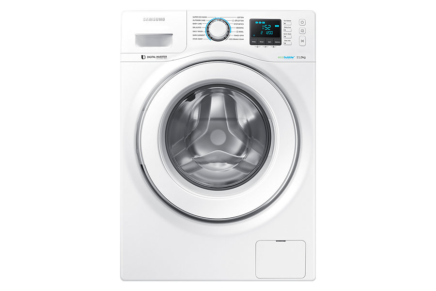 Front view of the Samsung 10KG Front Load Inverter Washer