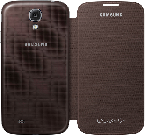 Samsung Galaxy S4 Brown Flip Cover