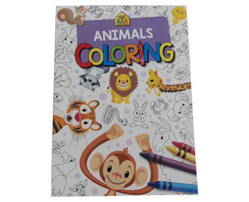 School Zone Animals Colouring Book