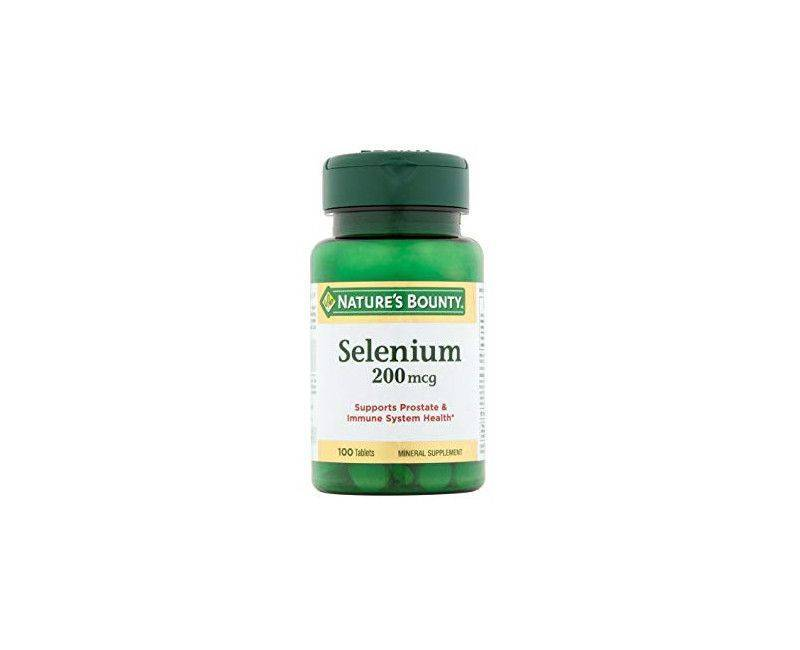 Nature's Bounty Selenium 200mg - Supports Prostate Health - 100 Tablets