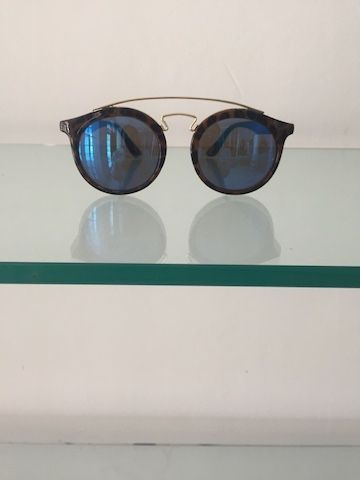 Round Brown & Gold Sunglasses