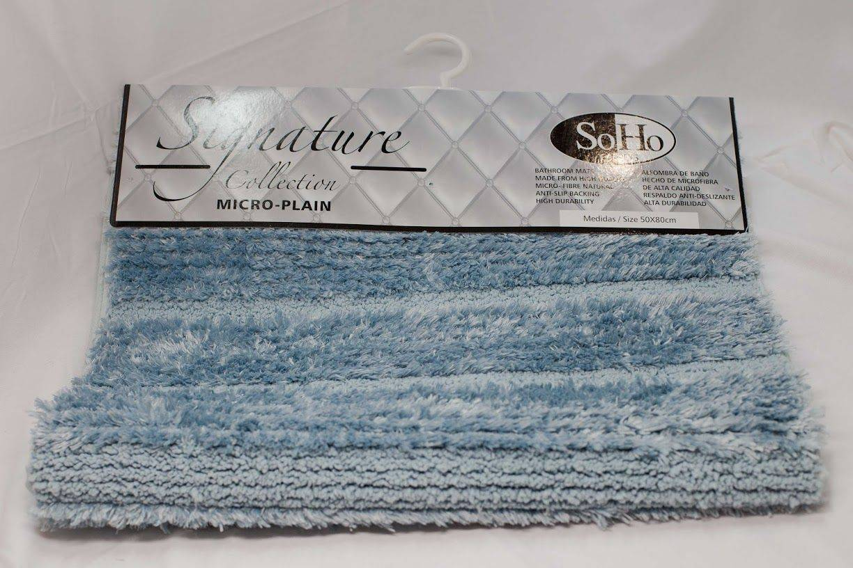 SoHo Carpets Signature Collection Micro-Plain 50x80cm in Light Blue