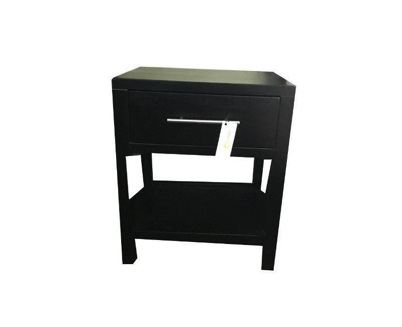 Black single drawer side table