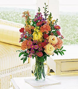Small Mixed Vase Floral Arrangement