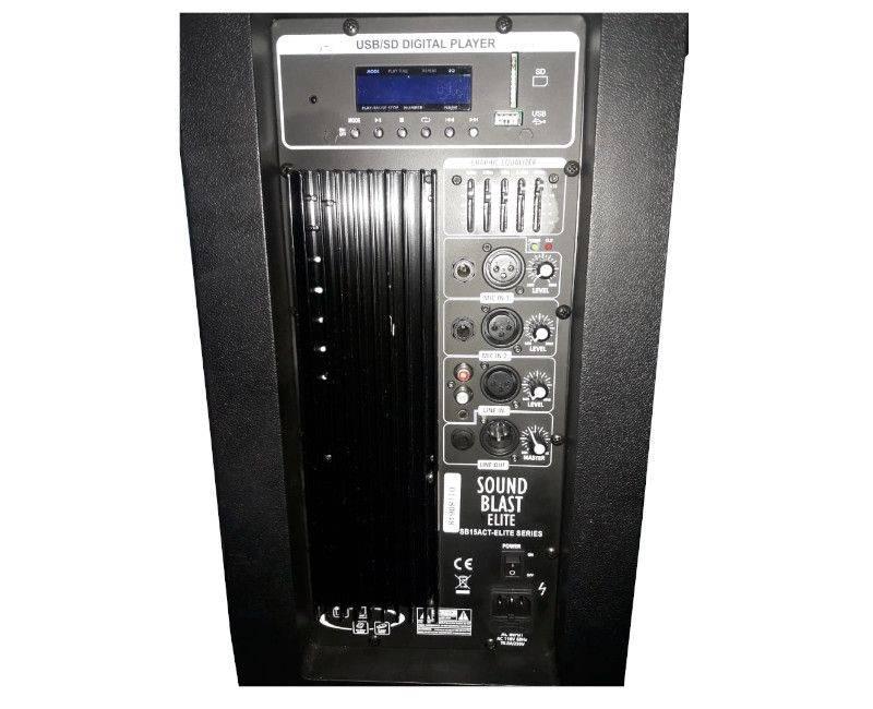 Sound Blast Professional Sound System Elite Series - Ports & Display