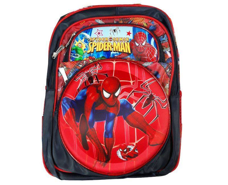 Spider-man Character 4 Zipper Section School Bag