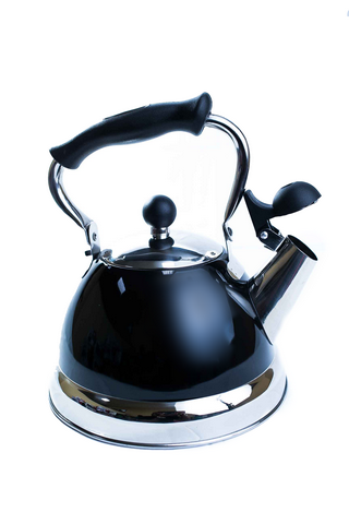 Stanza 2.5 Quart Stainless Steel Black Tea Kettle 92636-7 side view