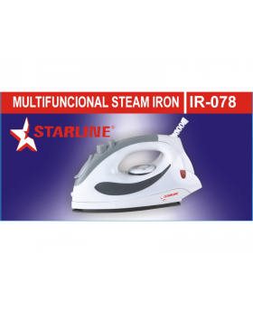 Starline IR-078 Steam Iron With Self - Cleaning and Temperature Control Dial
