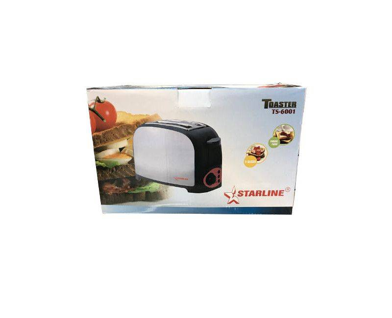 Starline 2 Slice Stainless Matte Steel Cool Touch Toaster