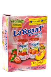 La Yogurt Probiotic Strawberry & Peach Original Lowfat Yogurt, 12pk/6oz