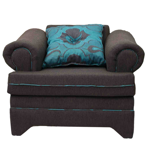 Sunflower 3 Piece Brown & Teal Sofa Set