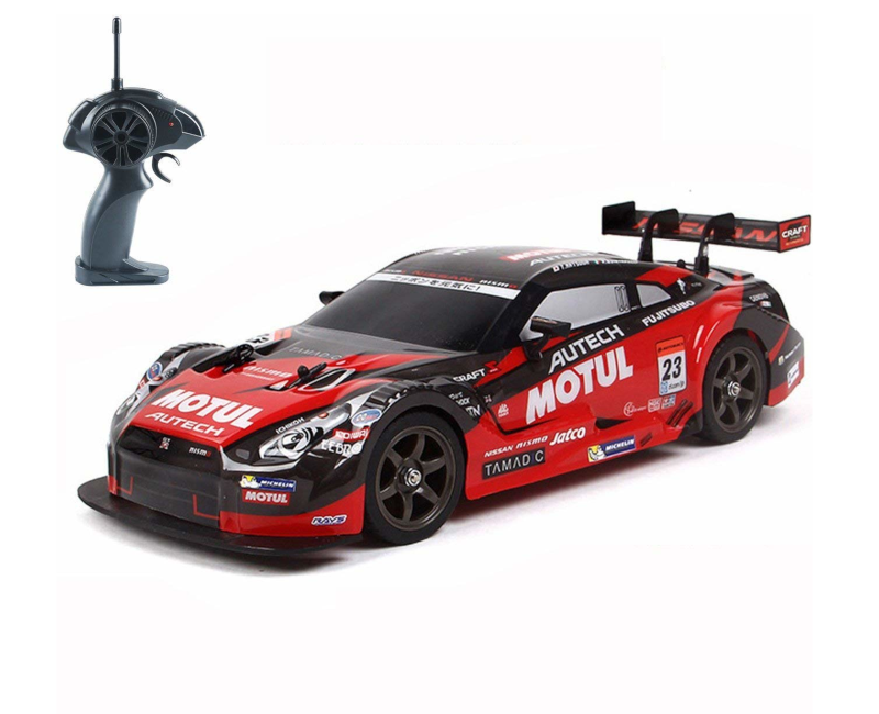 Super GT RC Sport Racing Drift Car 1:16 Remote Control Module 4WD RTR Car with 6 Battery and Drift tires