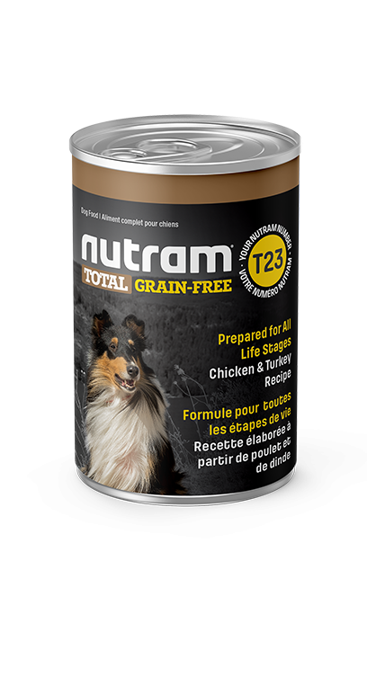 T23 Nutram Total Grain-Free® Chicken and Turkey Recipe Wet Dog Food Case of 12 Cans