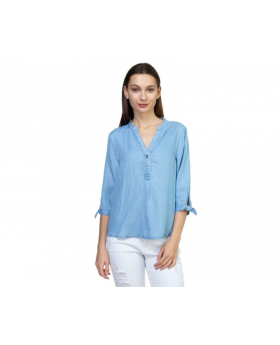 Tencel Split Neckline Shirt ID.CC37489