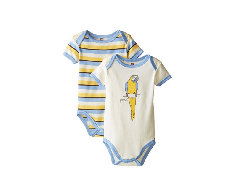 Touched By Nature 2 Pack Organic Cotton Bodysuits