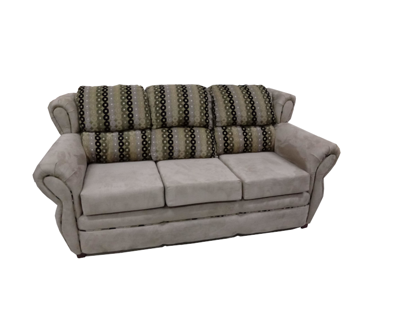 Traditional Microfiber Sofa