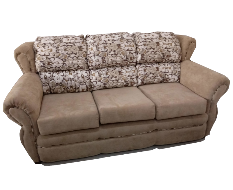Traditional Microfiber Three Seater Sofa