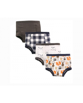 Training Pants 4 Pack Print - Forest 18M