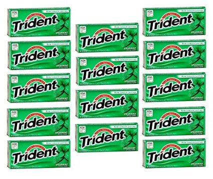 Trident Spearmint 14 Pack Chewing Gum
