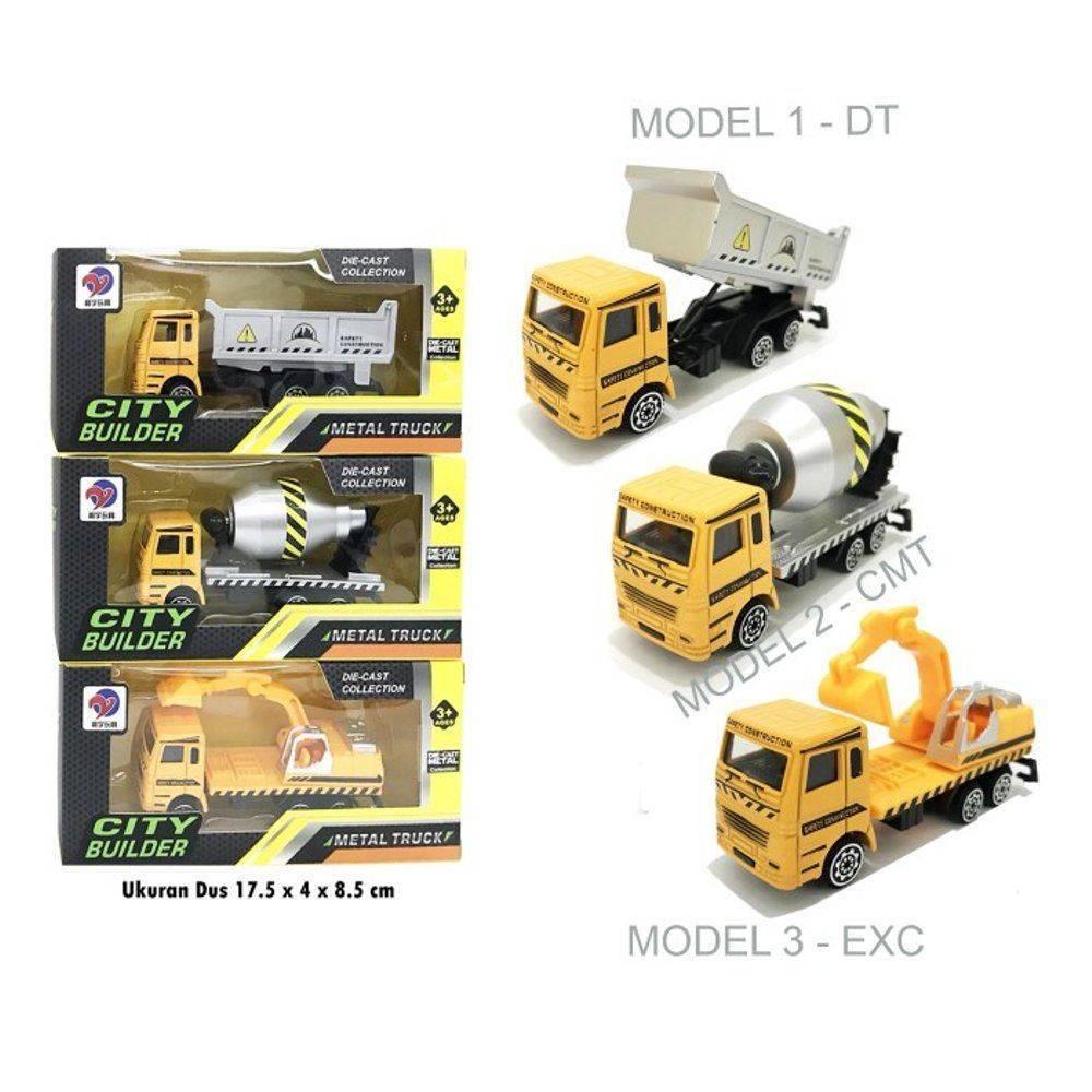 City Builder Metal Truck Set 3pcs