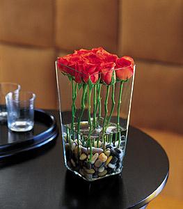 Twelve Roses Vased Floral Arrangement