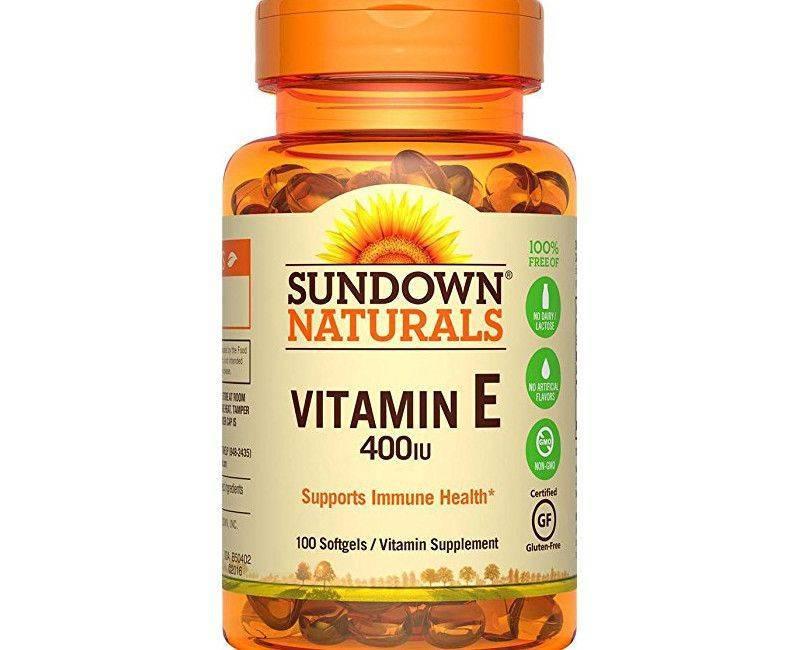 Sundown Naturals Vitamin E 180MG / 400IU 100's Antioxidant