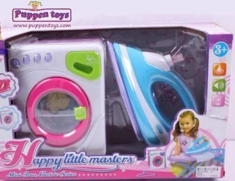 Washing Machine & Play Iron Set