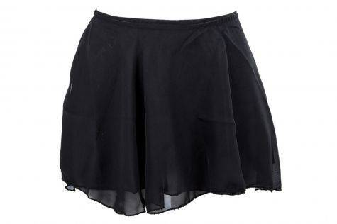 Girls Dance Ballet Wrap Skirt (Black)