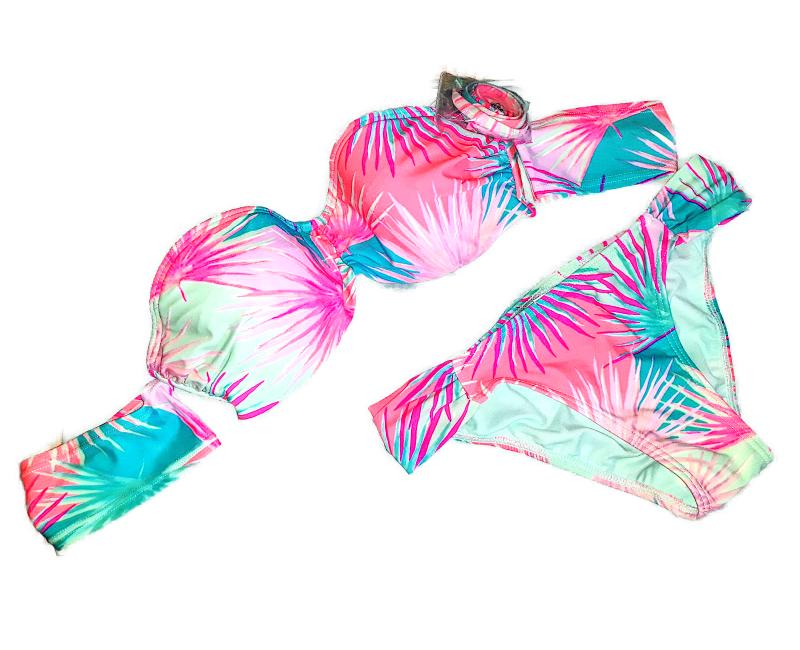 Xhilaration Cheeky Bikini Off The Shoulder Convertible 2 pc Swimsuit (XS)