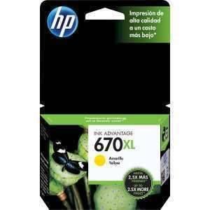 HPc CZ120AL 670XL Yellow Ink Cartridge 750 pages
