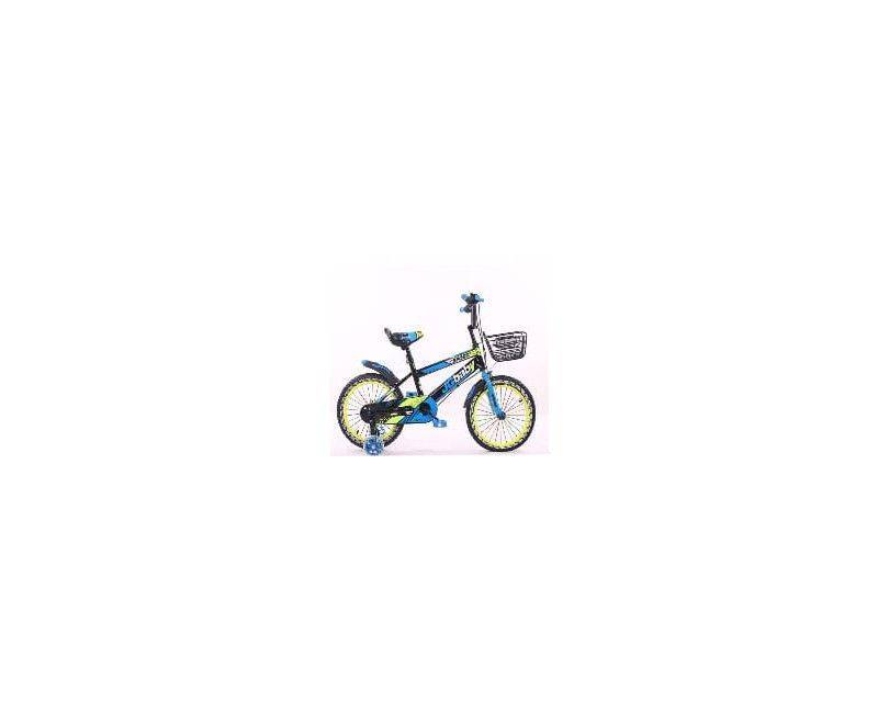 "16"" blue with yellow bike bicycle"