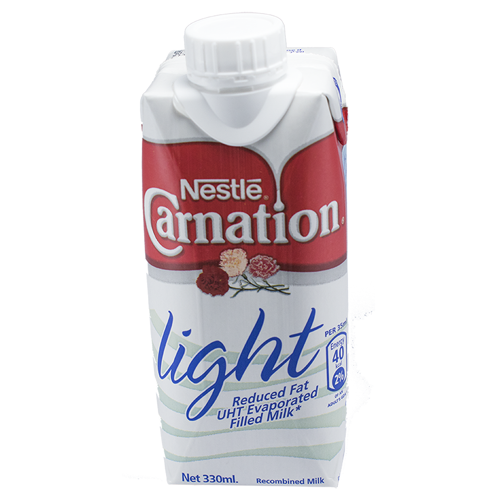 CARNATION Light Reduced Fat UHT Evaporated Filled Milk 330ml Carton