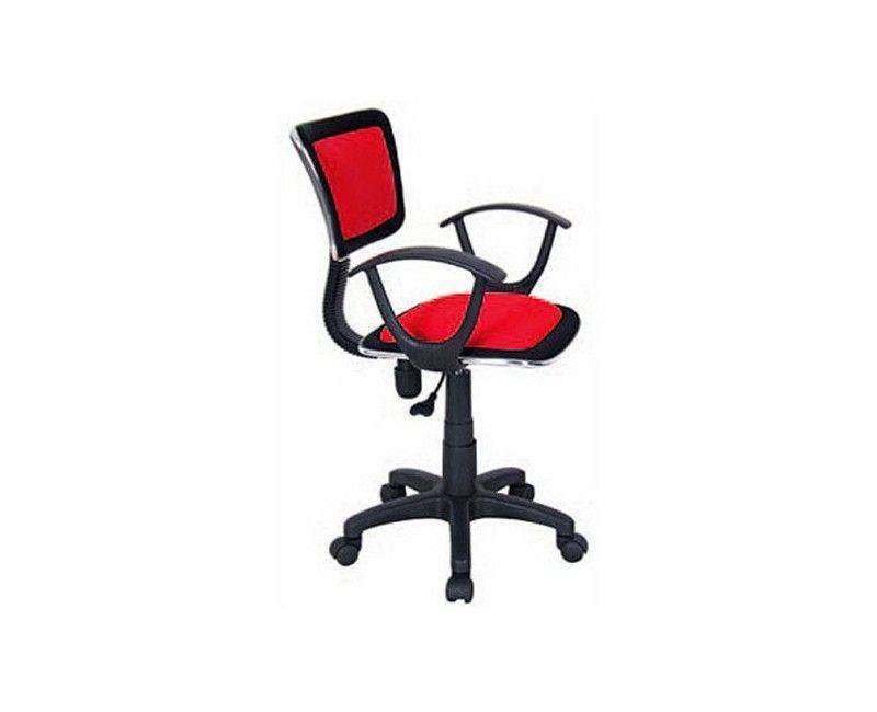 QZY-0613R Red Roma Manager Chair with Arm Rest Side View