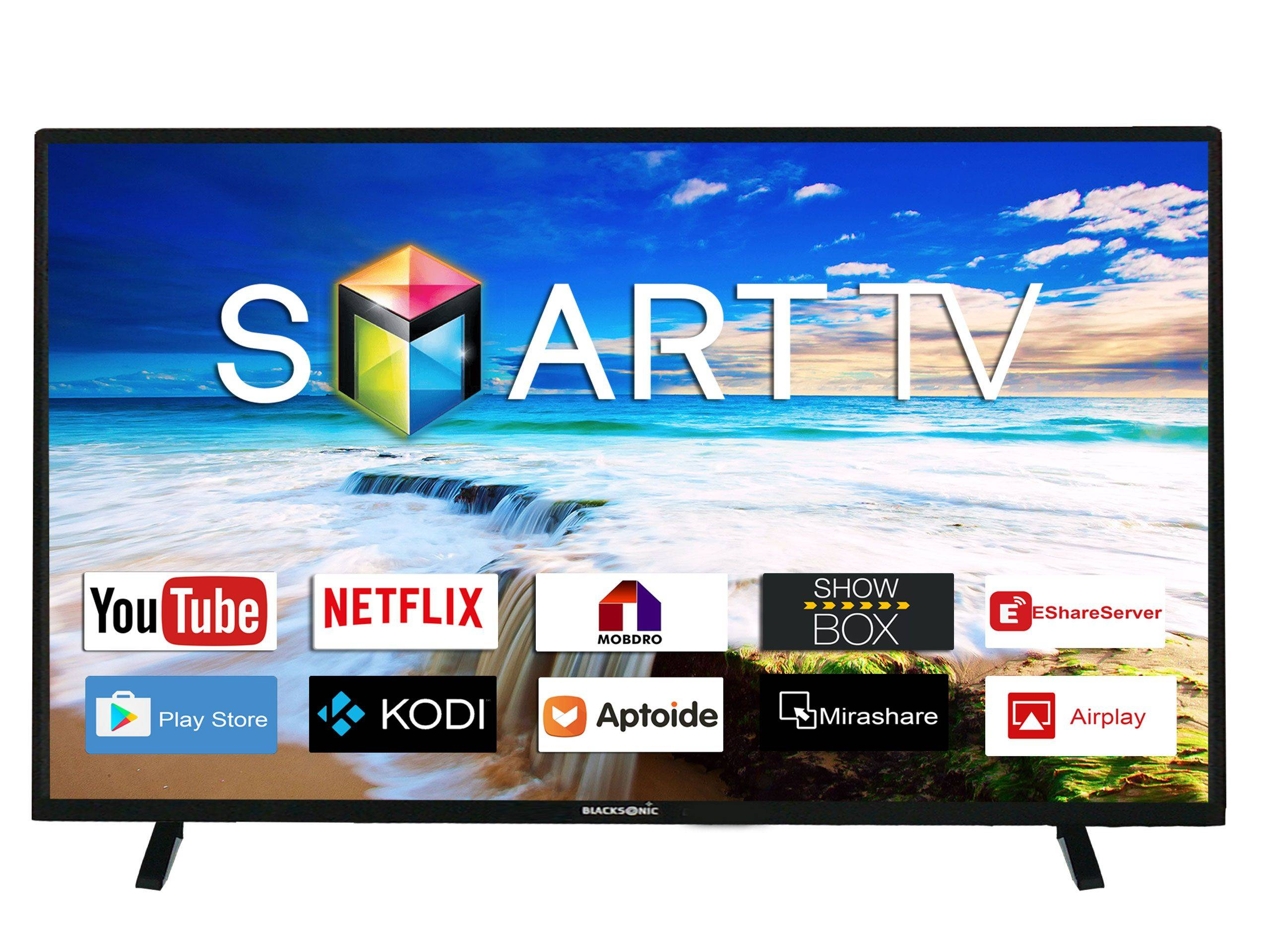 Blacksonic Full HD 39-Inch Smart Tv Dual Speed Panasonic Black Seriess