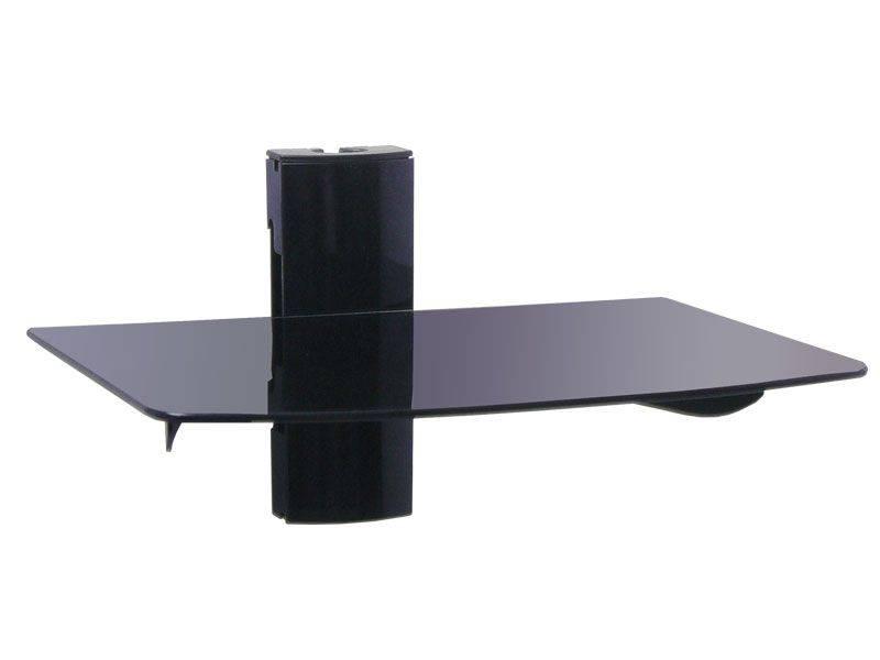 Blackpoint Single Floating DVD/DVR  Glass Shelf