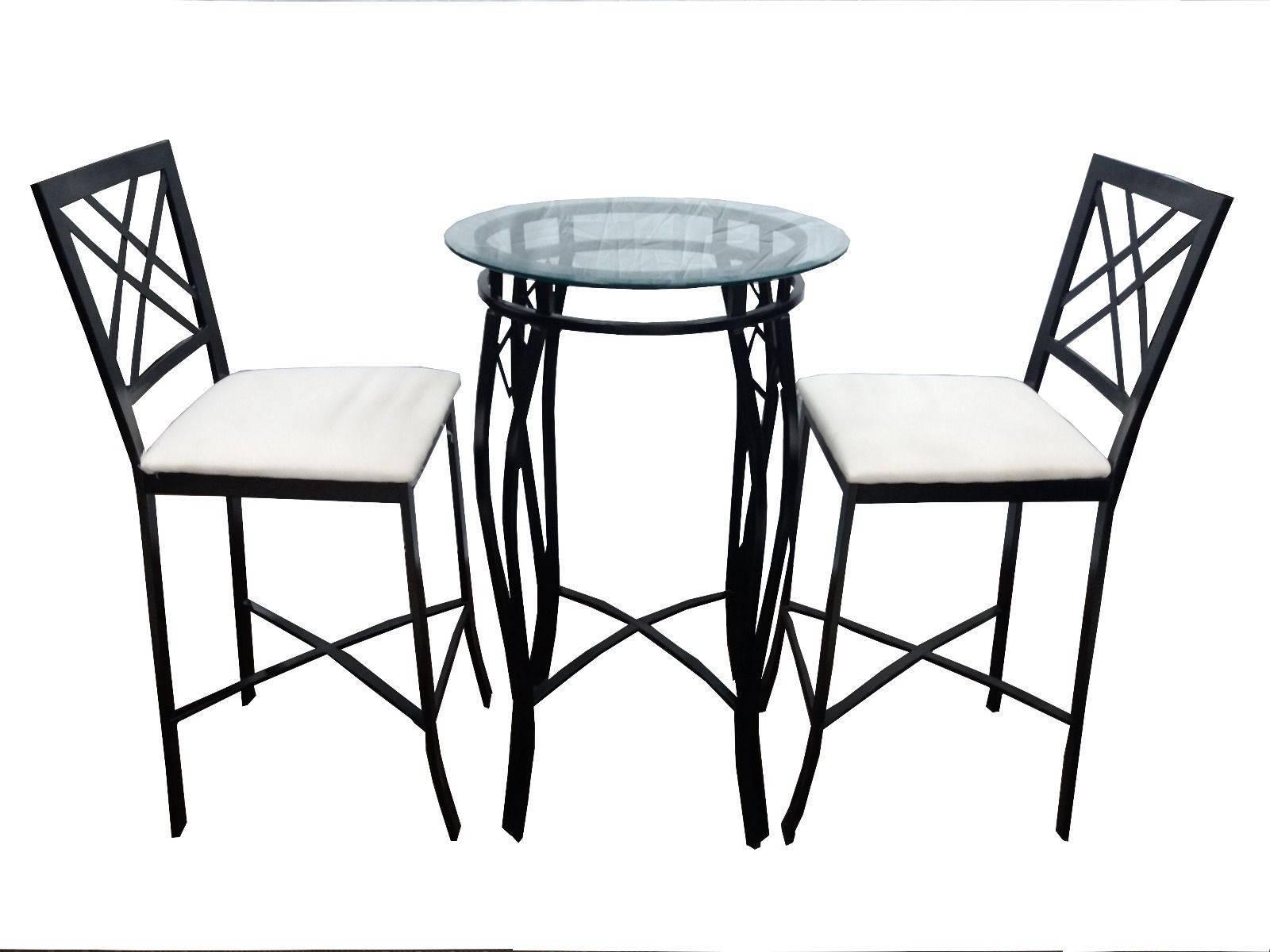 3 Piece Round Bar Table Set