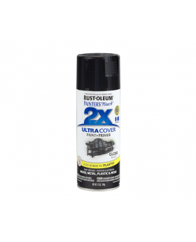 2X Ultra Cover Gloss Spray Paint 12 oz. Black (3 pack)