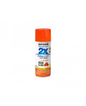 2X Ultra Cover High Gloss Spray Paint 12 oz. Fiery Orange (3 Pack)