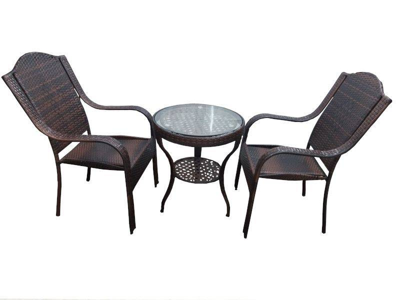 3 Piece Glass Dining Table Set