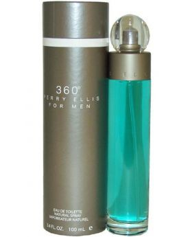 Perry Ellis 360 Cologne for Men, 3.4 Fl Oz , Gray