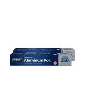 "Member's Selection Aluminum Foil 12"" x 250 Ft. 2 Pack"