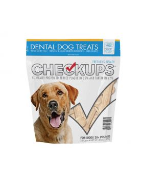 CheckUps Dental Dog Treats 48 oz. 24 Count