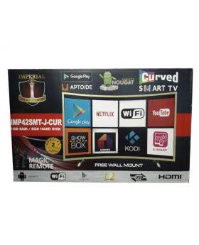 "Imperial 40"" Gold Curve Smart TV with Quad Core Processor"