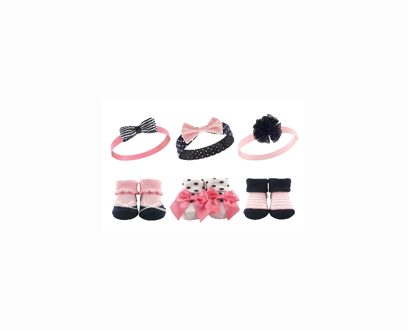 6 Piece Headband & Shoe Sock Gift Set