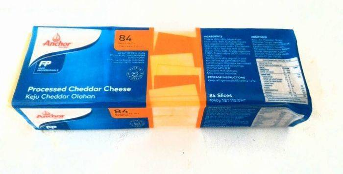 Anchor Cheddar Cheese Slices 84ct/1kg