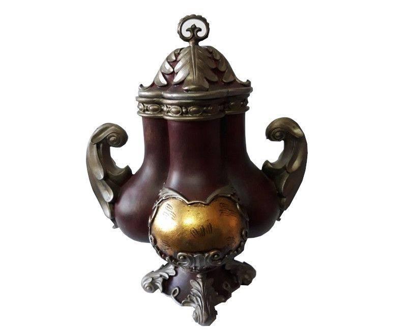 Antique Accent Sculptured Vase