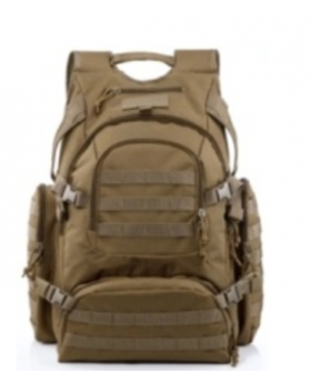 Yakeda Backpack 600D polyester with PU coating BLACK/OD GREEN
