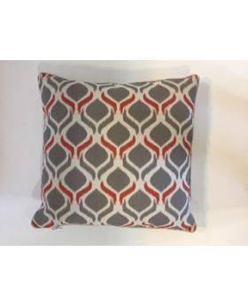 Bali Grey Orange Cushion Cover